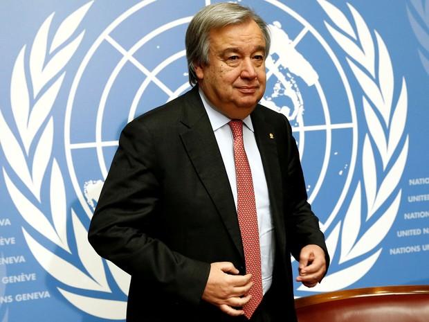 António Guterres foi nomeado secretário-geral da ONU (Foto: Reuters/Denis Balibouse)