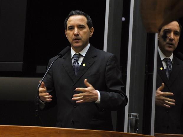 Natan Donadon faz sua defesa em plenário da Câmara (Foto: Zeca Ribeiro/Ag.Câmara)