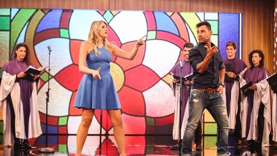 Dani Calabresa e Rodrigo Sant'anna dançam funk e fazem coreografia no 'Tamanho Família'