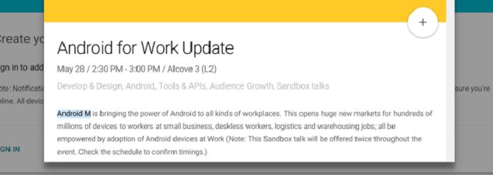 Agenda do Google I/O cita o Android M (Foto: Reprodução/Android Police)