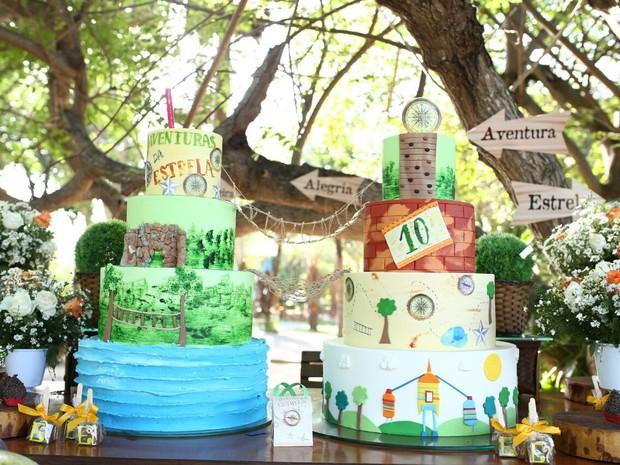 Mesa do bolo da festa de Estrela, filha de Solange Almeida (Foto: Moisés/ Estudio3/ Divulgação)