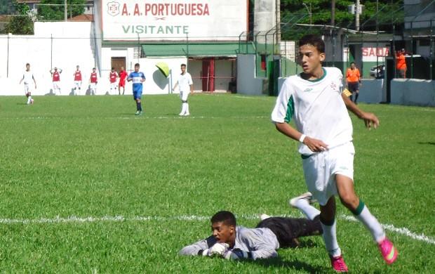 Rangel meia Portuguesa Santista Briosa Campeonato Paulista sub-15 (Foto: Divulgação / E5 Comunicação)