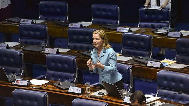 Senadora Gleisi Hoffmann (PT-PR) (Foto: Pillar Pedreira/Agência Senado)