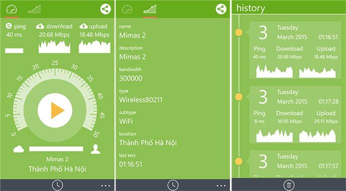 MiSpeedNet é um aplicativo que testa a velocidade da Internet 3G e Wi-Fi do usuário (Foto: Divulgação/Windows Phone Store)