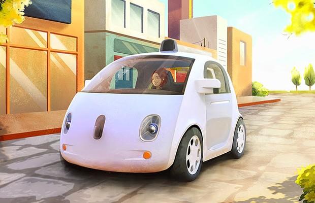 Protótipo de carro autônomo do Google (Foto: Divulgação)