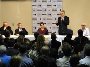 O ministro da Saúde, Alexandre Padilha, falou sobre o programa Rede Cegonha. (Foto: Pedro Cunha/G1)