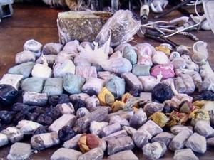 Grande quantidade de drogas são apreendidas dentro de presídio na região sul do Tocantins (Foto: Régis Caio)
