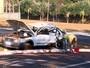 Três ficam feridos após capotagem em avenida de Ribeirão Preto, SP