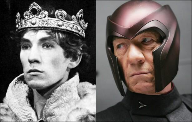 Já Ian McKellen, de 75 anos, o famoso Magneto dos 'X-Men', foi Hamlet num filme homônimo para a TV britânica lançado em 1970. Ao longo daquela década, o ator viria a interpretar o príncipe dinamarquês criado por William Shakespeare também nos palcos do Reino Unido. (Foto: Divulgação)