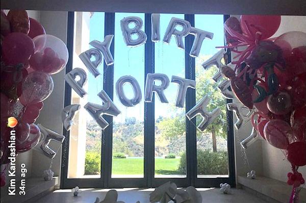 A festa de aniversário da filha de Kim Kardashian e Kanye West (Foto: Instagram)