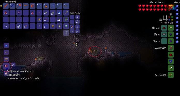 Ache o Demon Altar para conseguir o item necessário para invocar o chefe (Foto: Reprodução)