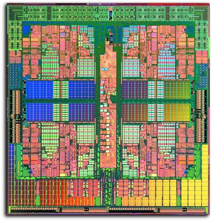 Processador quad-core visto por dentro (Foto: Reprodução/Wikipédia)  (Foto: Processador quad-core visto por dentro (Foto: Reprodução/Wikipédia) )