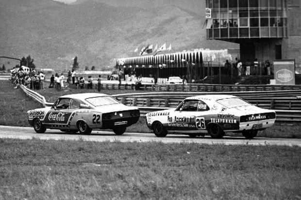 os pilotos Paulo Gomes#22 e Affonso Giafone#26 sempre bons pegas no Autódromo de Jacarepaguá_1979 (Foto: Divulgação)