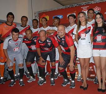 vitória; uniforme novo (Foto: Roque Mendes/Divulgação / Esporte Clube Vitória)