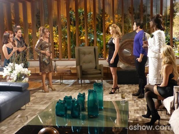 Pamela e Megan ficam surpresas com atitude de Jonas (Foto: Geração Brasil/TV Globo)