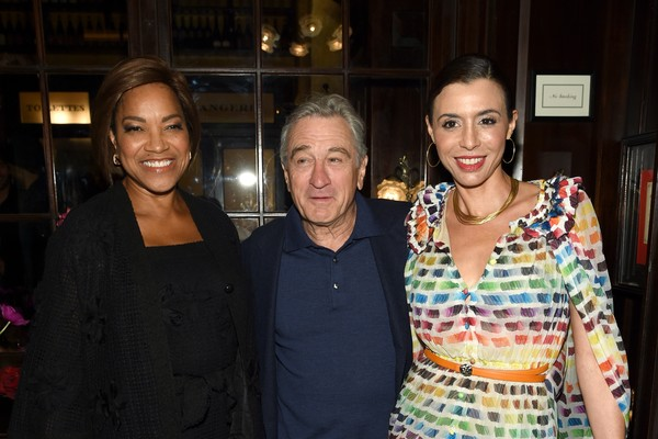 Grace Hightower, Robert De Niro e sua filha Drena (Foto: Getty Images)