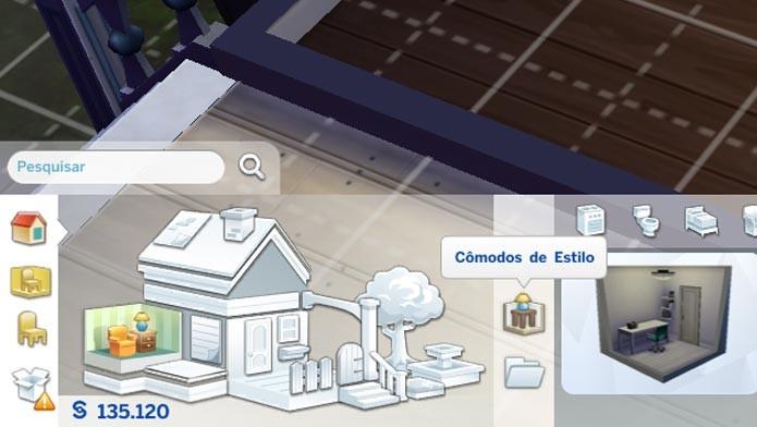 Selecione a ferramenta Cômodos de Estilo para começar a construir (Foto: Reprodução/Tais Carvalho)