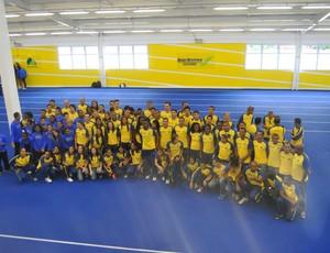 Equipe BM&F novo CT São Caetano (Foto: João Gabriel Rodrigues / GLOBOESPORTE.COM)