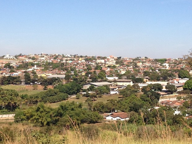 Vista geral da cidade de Trindade, na Região Metropolitana de Goiânia (Foto: Fernanda Borges/G1)