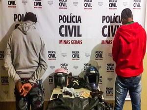 Suspeitos foram levados para o presídio de Araxá (Foto: Willian Tardelli/Divulgação )