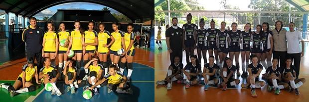 Rio de Janeiro e São Gonçalo do Sapucaí estão na final da Copa Brasil de Vôlei Mirim Feminino (Foto: Samir Vilas Boas/PMP)