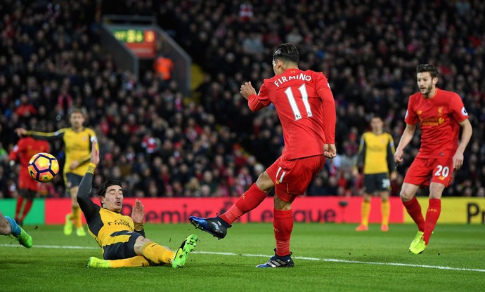 Roberto Firmino, Liverpool x Arsenal (Foto: Laurence Griffiths/Getty Images)