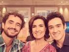 Felipe Andreoli comemora estreia no programa de Fátima Bernardes