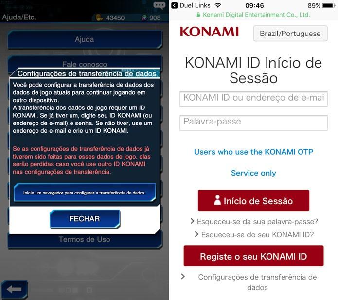 Crie uma ID Konami para salvar o seu progresso no jogo (Foto: Reprodução/Tais Carvalho)