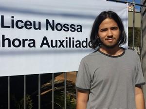 Lucas Vilarim, 18 anos, prestou Filosofia e achou a prova da Unicamp este ano difícil (Foto: Luciano Calafiori / G1)
