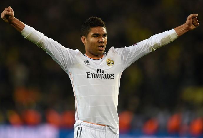 Casemiro, Borussia Dortmund x Real Madrid (Foto: AFP)