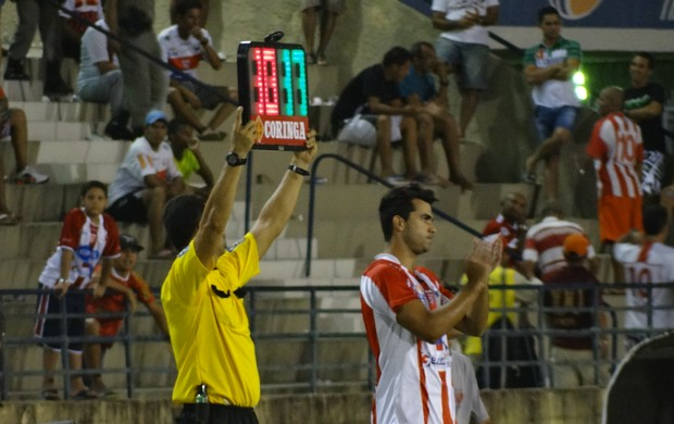 Atacante Liliu, CRB 1x2 Campinense-PB (Foto: Paulo Victor Malta / Globoesporte.com)