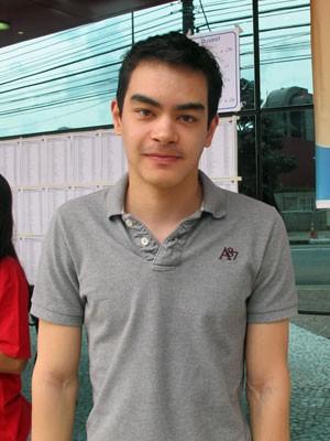 Caio Yudji, de 22 anos, está na disputa por vaga em geografia (Foto: Vanessa Fajardo/ G1)