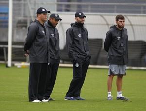 Grêmio, Roger, técnico, comissão técnica