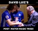 David Luiz dá show de mágica no Chelsea