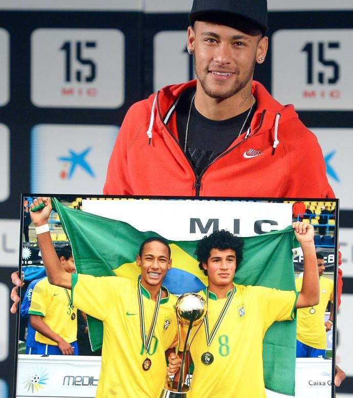 Neymar, evento torneig MIC (Foto: AP)