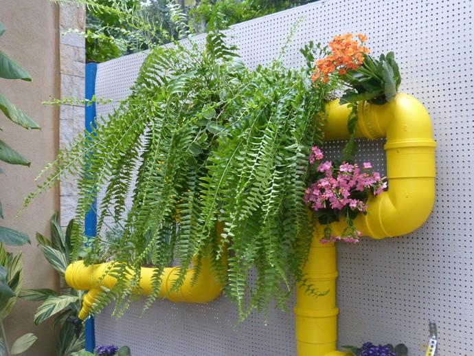 Jardim fica lindo na decoração (Foto: Anny Ribeiro/Gshow)