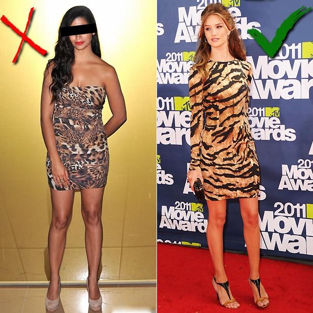 66b81161f6 Vestido  Rosie Huntington-Whiteley conseguiu apostar no vestido animal print  sem errar na dose