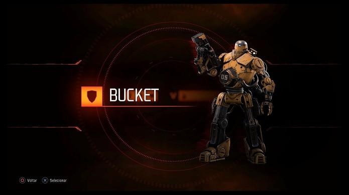 Bucket é o segundo personagem jogável da classe (Foto: Reprodução/Victor Teixeira)