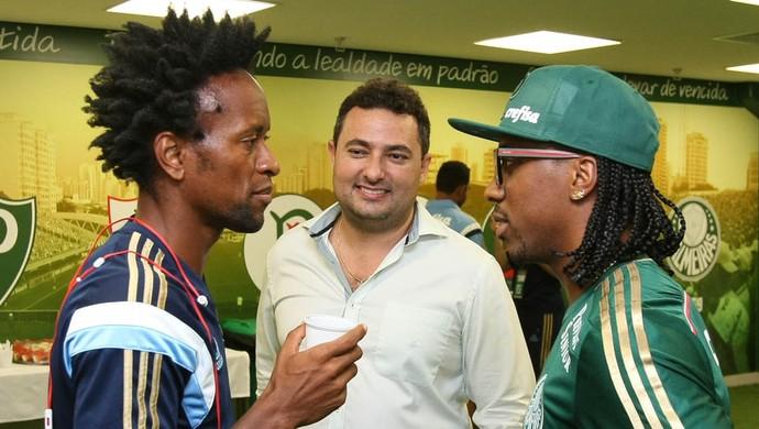 Zé Roberto, Alexandre Mattos e Arouca (Foto: Cesar Greco/Ag Palmeiras/Divulgação)