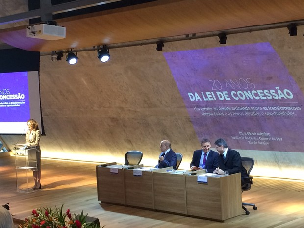 Joaquim Levy em evento na FGV, no Rio, sobre os 20 anos da Lei de Concessão (Foto: Cristiane Caoli / G1)