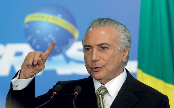 O presidente interino Michel Temer (Foto: Givaldo Barbosa / Agência O Globo)