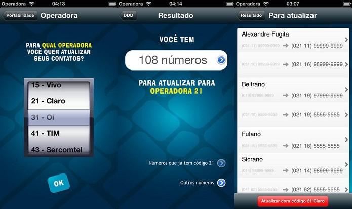 Ajustes os números dos seus contatos para a sua nova operadora (Foto: Divulgação/AppStore)