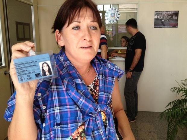 Janete Salapata da Silva perdeu a filha Lauriane na tragédia de Santa Maria (Foto: Iara Lemos/G1)