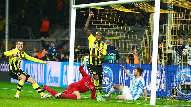 Felipe Santana gol Borussia Dortmund Málaga (Foto: AFP)