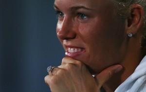 tênis Caroline Wozniacki anel de noivado (Foto: Agência AP)