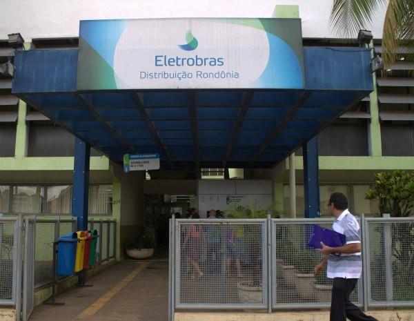 Fachada da Eletrobrás Distribuição Rondônia (Foto: Jenifer Zambiazzi/G1)