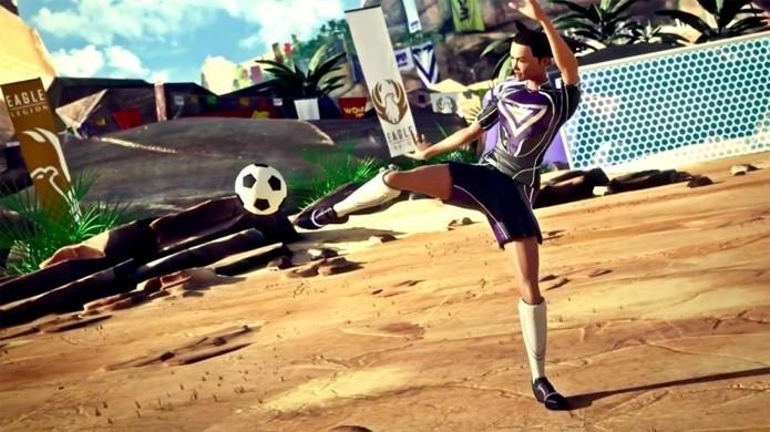 Futebol está entre as modalidades esportivas de Kinect Sports Rivals (Foto: cheatmasters.com)