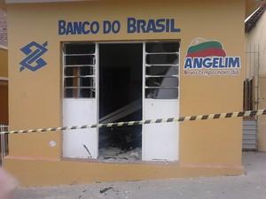 Agência do Banco do Brasil em Angelim. (Foto: Divulgação/ PM)