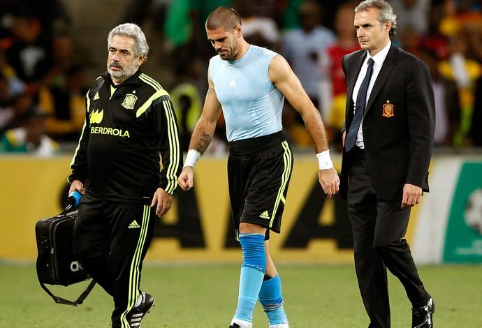 Valdés goleiro lesionado (Foto: Reuters)