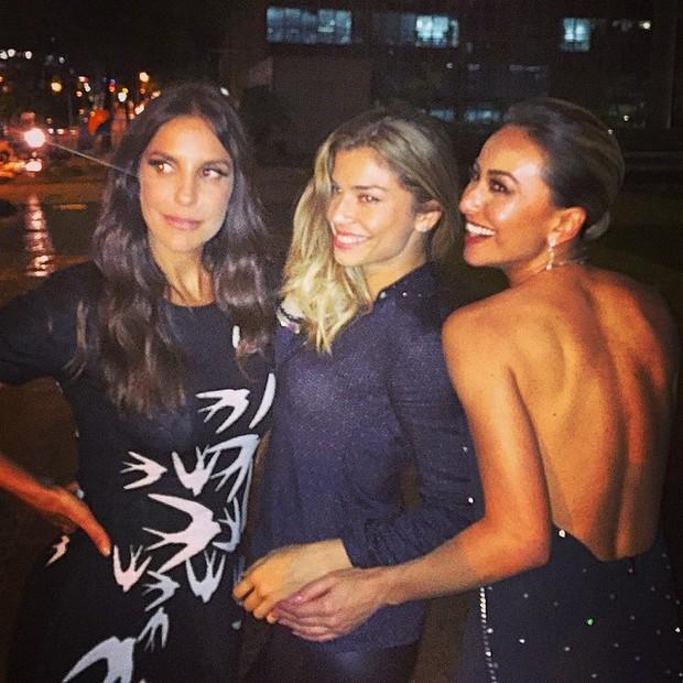 Ivete Sangalo, Grazi Massafera e Sabrina Sato em São Paulo (Foto: Instagram/ Reprodução)